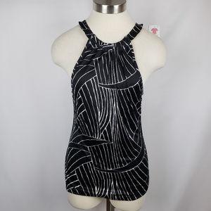 Ann Taylor Womens Sleeveless Striped Racerback Top